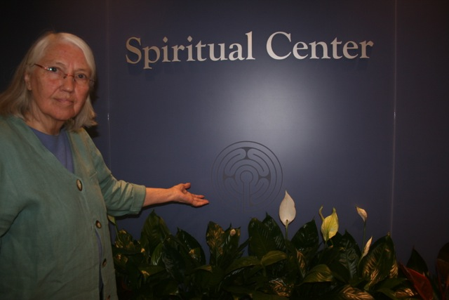 Marilyn Larson at MCHC Spritual Care Entrance