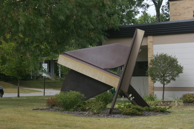 Sculpture outside of the Northfield City Hall