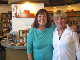 Author Denisse Roessle (right) at Well Red Coyote