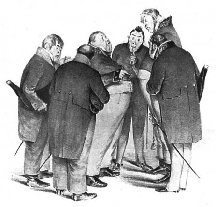"Gogol ""The Government Inspectors"" (Artist: Boklevsky, 1863)"