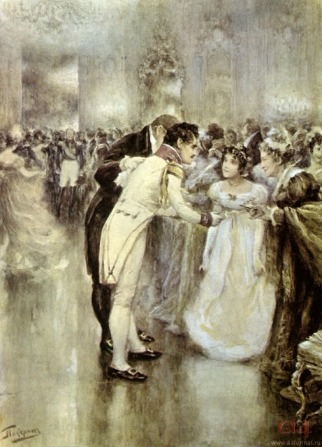 "Tolstoy ""War and Peace"" (Natasha's Ball) (Artist: L. Pasternak)"
