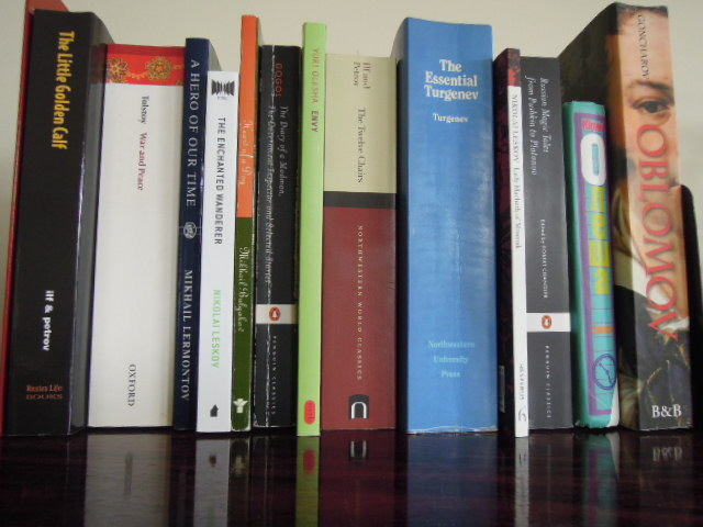 Selections of Russian Literature (Photo by Nina Denne)