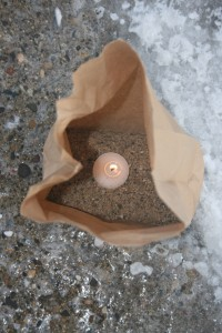 Winter Walk Bag Luminaria