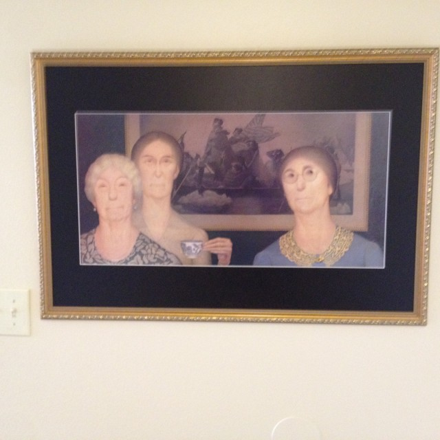 "Print of Grant Wood's ""Daughter of Revolution""--original in the Cincinnati Art Museum (Photo by Carolyn Warden)"