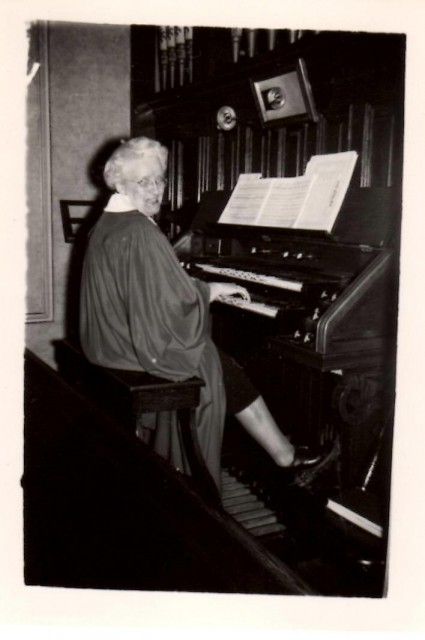 Kate at her Organ ii
