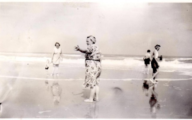 Grandma Marie on the Florida Shore, 1940s