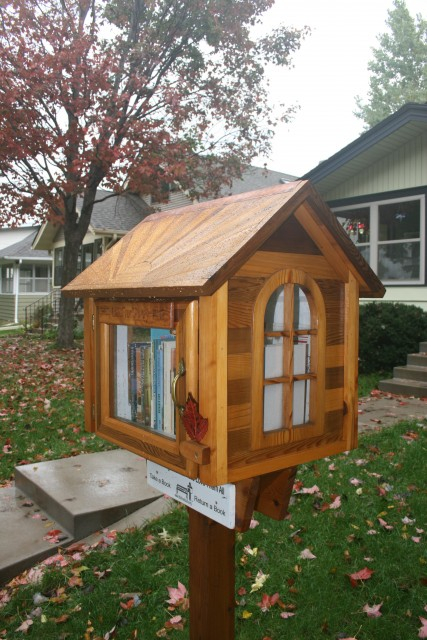 Little Free Library Sunburst Roof 1