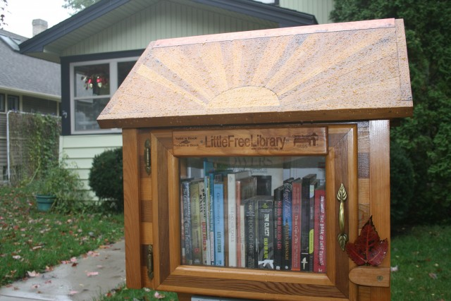 Little Free Library Sunburst Roof 2