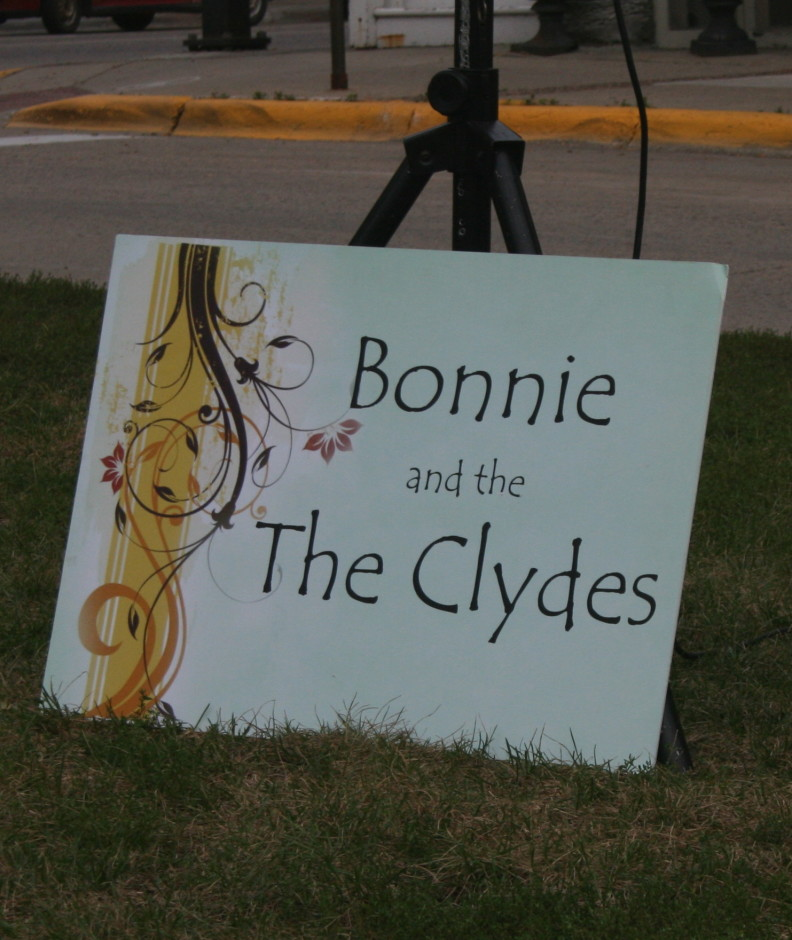 Sidewalk Poetry Bonnie and the Clydes Sign