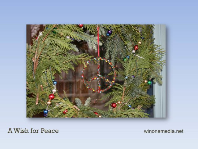 New Year's Day 2016 Peace Wreath